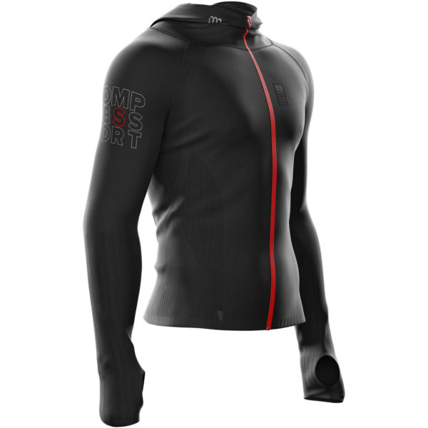 Худи Compressport 3D Seamless Woodpulp Zip Hoodie