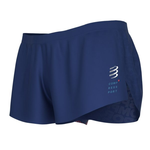 Шорты для бега Compressport Split Racing Overshorts