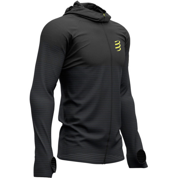 Худи Compressport Black Edition 2019 3D Thermo Seamless Hoodie Zip