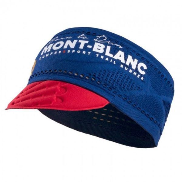 Повязка-козырек Compressport Trailrunning La Visiere ON/OFF Mont Blanc 2017, черный