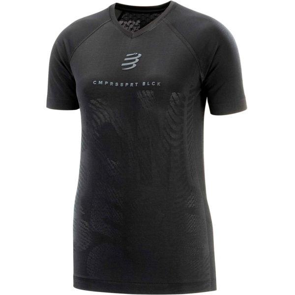 Футболка женская Compressport Training Tshirt SS W - Black Edition 2020