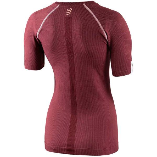 Футболка женская Compressport Training Tshirt SS Born To SwimBikeRun, SS2020