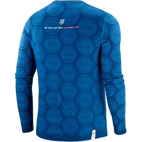 Лонгслив Compressport Training Tshirt LS Badges - Mont Blanc 2020