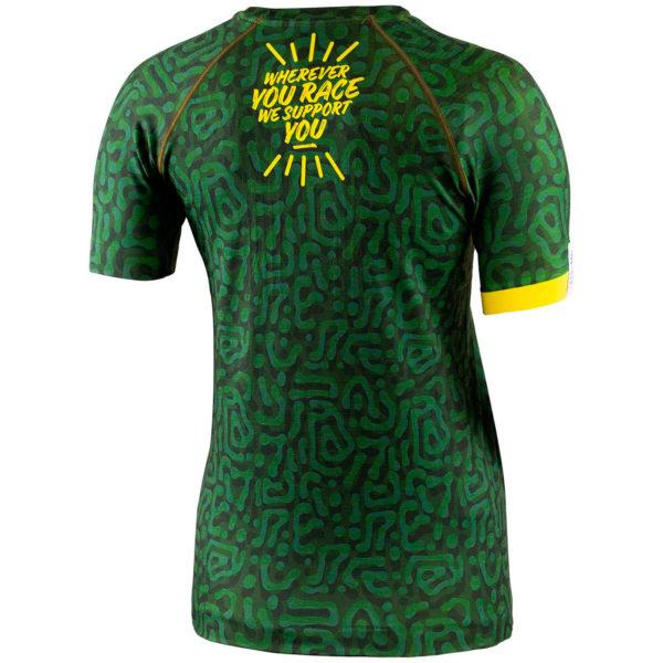Футболка женская Compressport Training Tshirt SS W - Camo Neon 2020