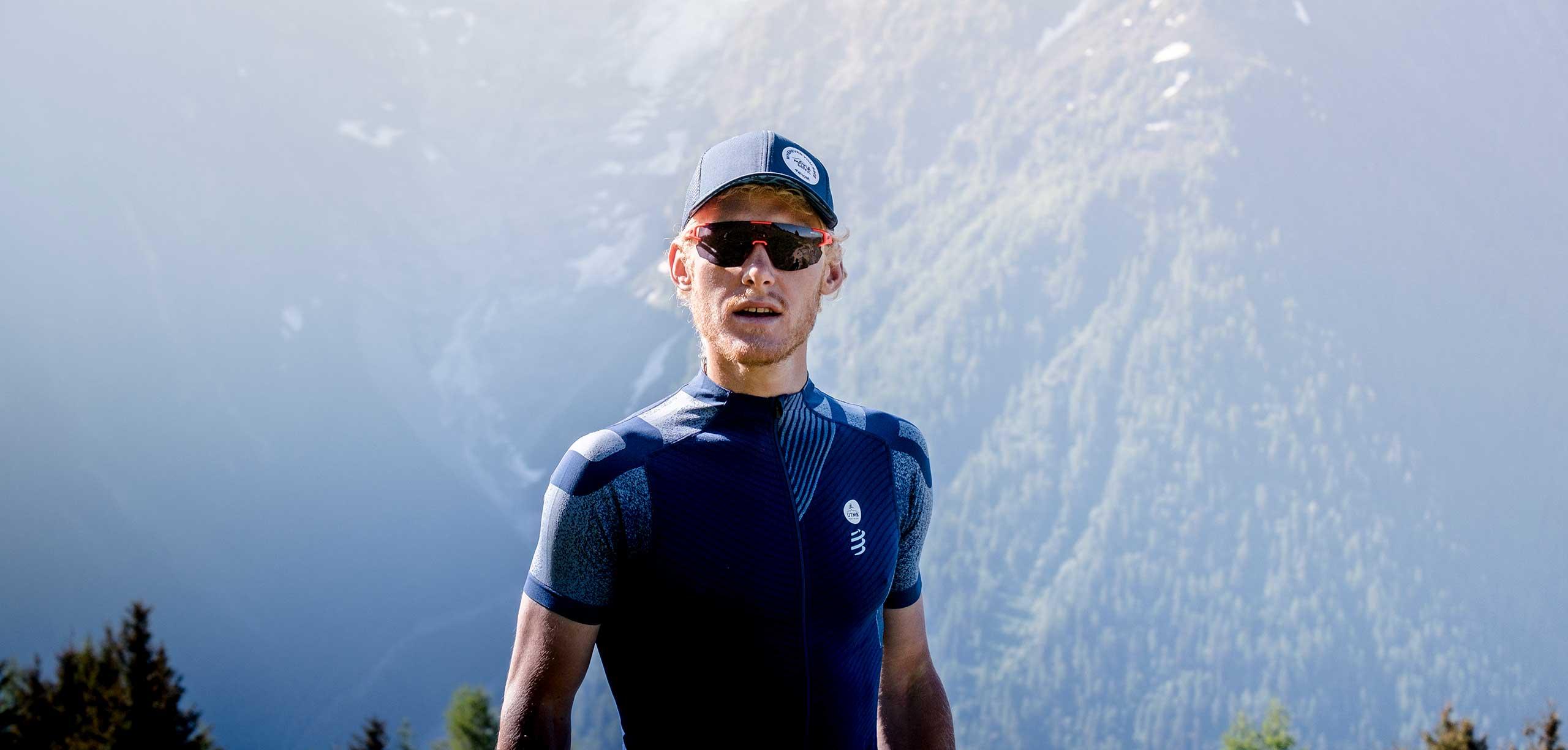 Картуз із сіткою Compressport Trucker Cap - Mont Blanc 2020, Blue