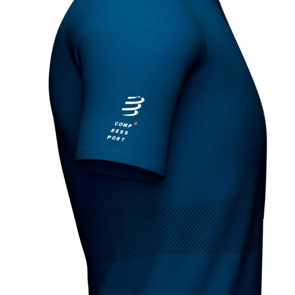 Футболка Compressport Trail Half-Zip Fitted SS Top, SS2021