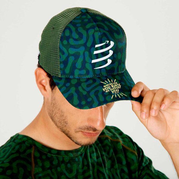 Кепка Compressport Trucker Cap Camo Neon, SS2020