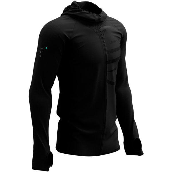 Худи Compressport 3D Thermo Seamless Hoodie Zip - Black Edition 2021