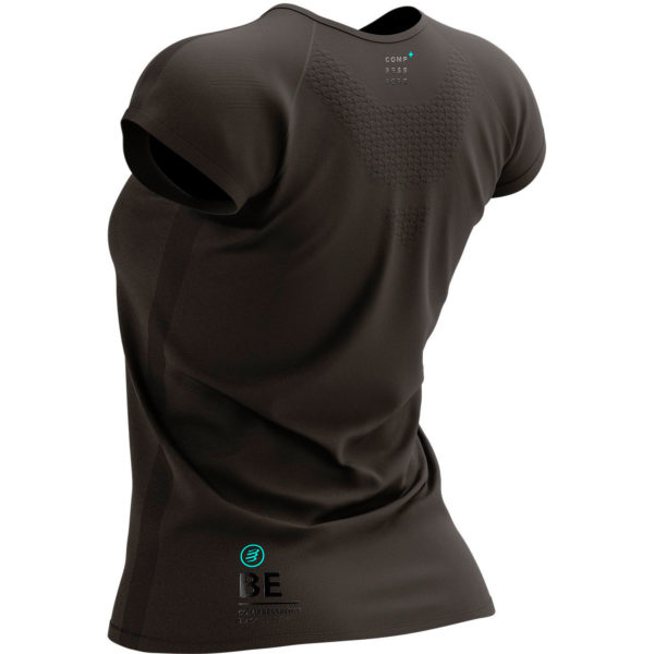 Футболка женская Compressport Training Tshirt SS W - Black Edition 2021