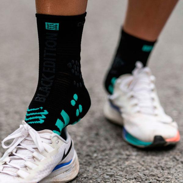 Носки компрессионные Compressport Pro Racing Socks V3.0 Run High - Black Edition 2021
