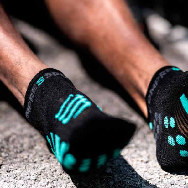 Носки компрессионные Compressport Pro Racing Socks V3.0 Run Low - Black Edition 2021