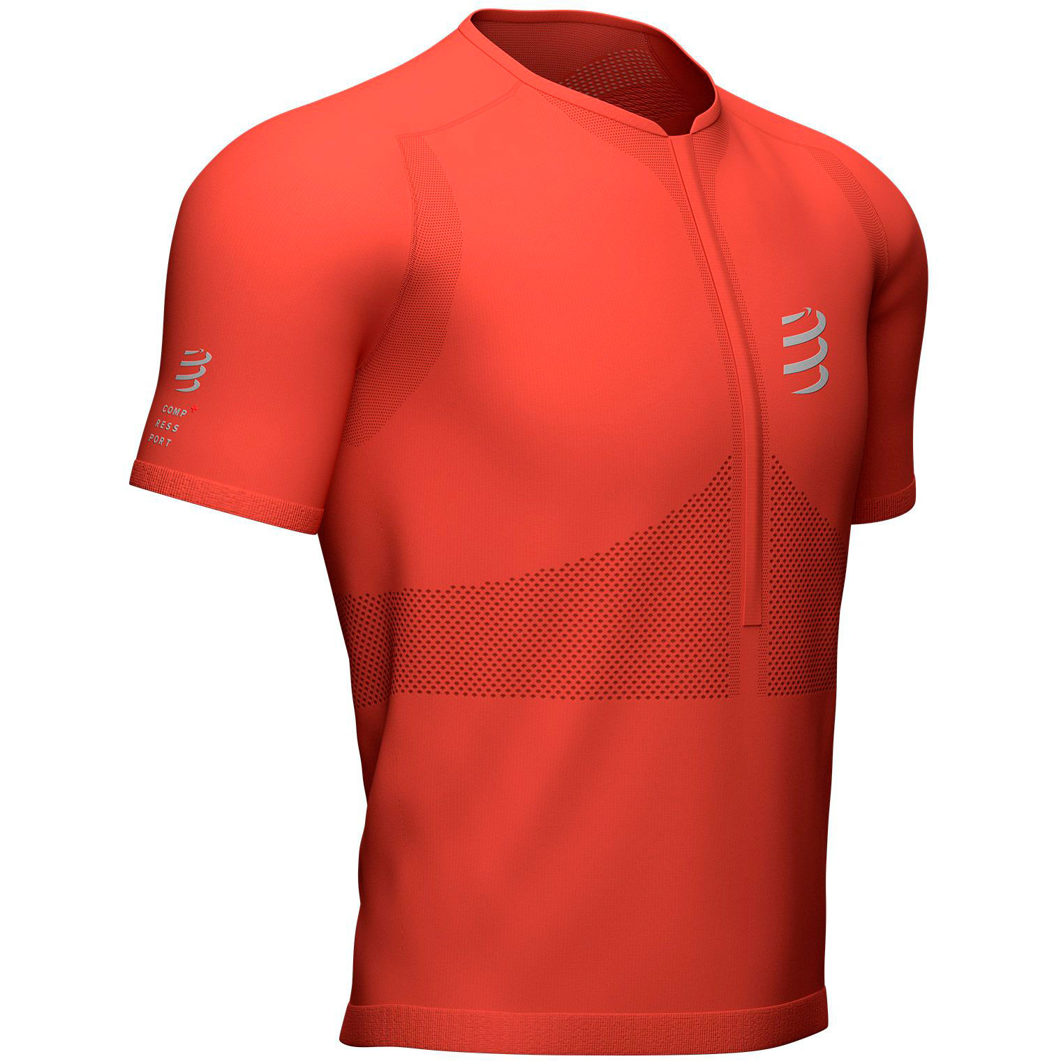 Футболка Compressport Trail Half-Zip Fitted SS Top, Red Clay