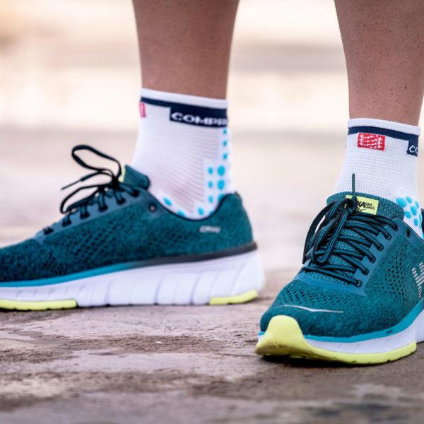 Шкарпетки компресійні Compressport Pro Racing Socks V3.0 Run High, White/Blue