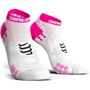 Шкарпетки компресійні Compressport Pro Racing Socks V3.0 Run Low, White/Pink