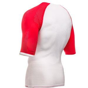 Футболка Compressport On/Off Multisport Shirt SS, White/Red