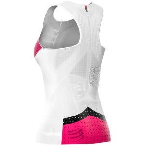Майка жіноча Compressport Triathlon Postural Ultra Tank Top W, White