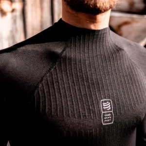Кофта Compressport 3D Thermo 110g LS Tshirt, Black