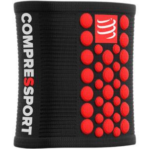 Напульсник Compressport Sweatbands 3D.Dots, Black/Red