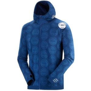 Худі Compressport 3D Thermo Seamless Hoodie Zip - Mont Blanc 2020, Blue