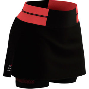 Спідниця Compressport Performance Skirt W, Black/Coral