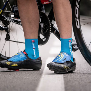 Шкарпетки компресійні Compressport Pro Racing Socks V3.0 Bike, Ice Blue