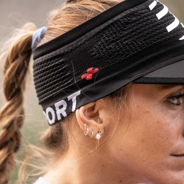 Пов'язка з козирьком Compressport Spiderweb Headband On/Off, Black