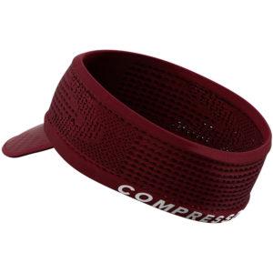 Пов'язка з козирком Compressport Spiderweb Headband On/Off, Zinfandel